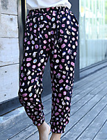 Girl's Casual/Daily Print Pants,Cotton Summer / Spring Black / Blue / White