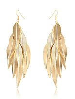 Fashion Personality Golden Tassels Willow Earrings