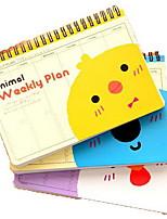 Cartoon Coil Schedule Planning Notebook(Random Colors)