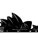 Fashion The Sydney Opera House Pattern PVC Bathroom or Bedroom or Glass Wall Sticker Home Decor