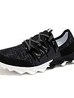 zapatos de los hombres de Tulle de las zapatillas de deporte de la manera de atletismo atlético corriendo talón otros planos negro / azul
