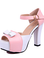 Women's Sandals Summer Sandals PU Casual Chunky Heel Buckle Pink / Purple / Red Others