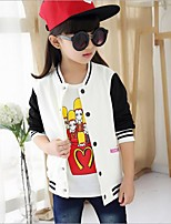 Girl's Casual/Daily Patchwork Suit & Blazer,Cotton Spring Black / Pink