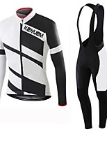 KEIYUEM®Others Spring/Summer/Autumn Long Sleeve Cycling Jersey+Bib Tights Ropa Ciclismo Cycling Clothing Suits #L27