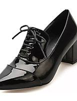 Women's Heels Summer Heels Patent Leather Casual Chunky Heel Lace-up Black / Red Others