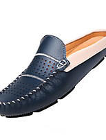 Men's Shoes Cowhide Casual Loafers & Slip-Ons Casual Walking Flat Heel Others Black / Blue / White