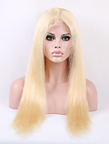 Fashion & Beauty Silky Straight Light Blonde 613# Color  Brazilian Virgin Remy Hair Full Lace Wigs for Fashion Women