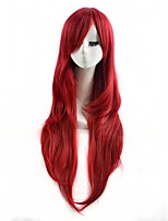 Red Color Cosplay Synthetic Wigs Cheap Straight Wigs For Black Women Fashion Wigs