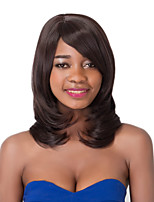 European Vogue Medium Sythetic Straight Party Wig For Women