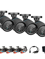 SANNCE® AHD 720P Indoor And Outdoor IR Cut CCTV Camera Kits Weatherproof Home Security System Kits