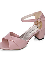 Women's Sandals Summer Styles / Open Toe PU Dress / Casual Low Heel Others Blue / Pink / White
