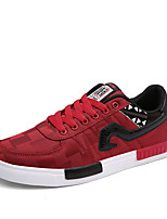 Men's Sneakers Spring / Fall Styles / Round Toe PU Athletic Flat Heel Lace-up / Others Black / Blue / Red / White Sneaker