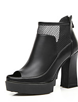 Women's Shoes Fall Heels / Peep Toe / Platform / Fashion Boots Boots  / Dress / Casual Chunky Heel Zipper