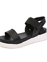 Women's Sandals Summer Sandals PU Casual Wedge Heel Others Black / White / Silver Others