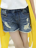 Girl's Casual/Daily Solid Pants,Cotton Summer / Spring Blue