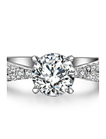 1.5CT SONA Diamond Ring for Women Engagement Jewelry Solid Silver 7.5mm Twist Across Setting Hearts and Arrows Ring
