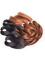 Ombre 1B/Brown Color Box Braids Hair Synthetic Hair Braiding Hair Extensions
