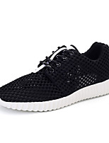 zapatos de los hombres de Tulle de las zapatillas de deporte de la manera de atletismo atlético corriendo talón otros planos negro /