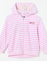 Girl's Casual/Daily Striped Blouse,Cotton Fall Pink