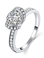 T Brand Quality Marry Me Ring Propose Jewelry Ring for Bride 1CT SONA Diamond Engagement Sterling Silver Micro Paved