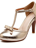 Women's Shoes Leatherette Spring / Summer / Fall Heels Heels Wedding / Dress / Casual Stiletto Heel  / Silver / Gold