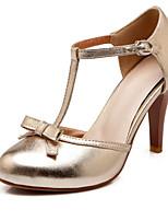 Homme-Mariage / Habillé / Décontracté-Noir / Argent / Or-Talon Aiguille-Talons-Chaussures à Talons-Similicuir