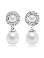 Fashion Pearl Earrings Rose Gold Plated Stud Earring Jewelry For Women's Gifts