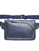 Men-Formal-PVC-Waist Bag-Blue / Black