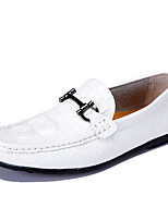 Men's Shoes Nappa Leather Office & Career Flats Office & Career /Casual Flat Heel Plaid Black / Yellow / White