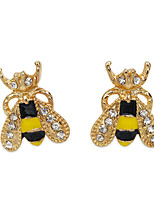 Earring Animal Shape Jewelry Women Fashion Wedding / Party / Daily / Casual / Sports Alloy / Resin / Rhinestone 1 pair Gold
