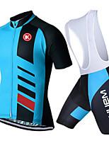 KEIYUEM® Summer Cycling Jersey Short Sleeves + BIB Shorts Ropa Ciclismo Cycling Clothing Suits #K113