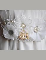 Cetim / Cetim/Tule / Organza / Renda Casamento / Festa/Noite / Dia a Dia Faixa-Florais / Pedraria / Imitação de Pérola Feminino86