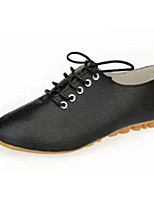 Women's Shoes PU Summer Comfort Flats Casual Flat Heel Others Black / White