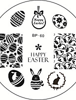Cute Easter Theme Bunny Egg Cute Rabbit Nail Art Stamping Template Image Plate BORN PRETTY BP #60