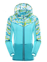 Outdoor Women's Tops Yoga  Camping & Hiking  Cycling Bike  RunningWaterproof  Breathable  Ultraviolet Resistant