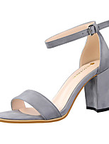 Women's Sandals Summer Sandals Fleece Casual Chunky Heel Others Black / Pink / Red / Gray / Almond Others