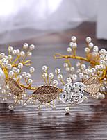 Femme / Jeune bouquetière Alliage / Imitation de perle Casque-Mariage / Occasion spéciale Serre-tête 1 Pièce Beige Rond 29.5cm