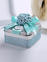 10 Piece/Set Favor Holder-Cubic Metal Ribbons / Flowers Wedding Favor Boxes Candy Boxes