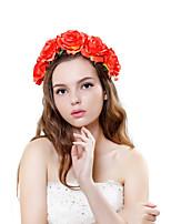 Vrouwen Polyester / Stof Helm-Bruiloft / Speciale gelegenheden / Buiten Guirlandes 1 Stuk Veelkleurig Bloem 28-33cm