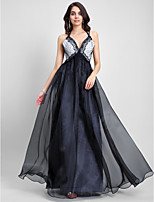 TS Couture® Formal Evening Dress A-line Spaghetti Straps Floor-length Organza with Lace