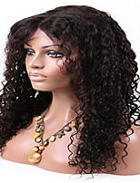 EVAWIGS Brazilian Virgin Hair Wig Natural Black Color Lace Front Wig Curly Glueless Lace Wig for Black Women