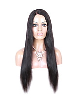 EVAWIGS In Stock 100%  Unprocessed Brazilian Human Hair U Part Wig Fashion Side Part Natural Straight Wig