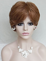 Europe And The United States With  A Light Brown Mixture Color Old Fluffy Short Wig 4 Inch