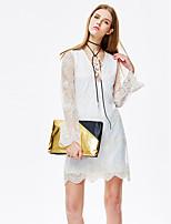 Heart Soul® Women's Round Neck Long Sleeve Knee-length Dress-11AA19032