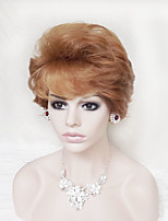 Europe And The United States With Red Brown Mixture Color Old Fluffy Short Wig 4 Inch
