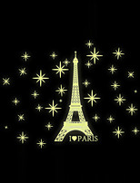 Luminous Wall Stickers Wall Decals Style Eiffel Tower PVC Wall Stickers