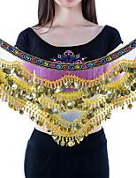 Pañuelos de Cadera para Danza del Vientre(Multicolor,Chinlon,Danza del Vientre) -Danza del Vientre- paraMujer Monedas de oro