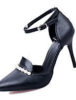 Women's Heels Summer Heels PU Casual Stiletto Heel Pearl Black / Blue / Pink / White Others