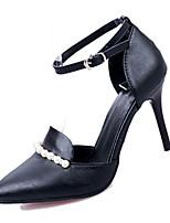 Damen-High Heels-Lässig-PU-Stöckelabsatz-Absätze-Schwarz / Blau / Rosa / Weiß