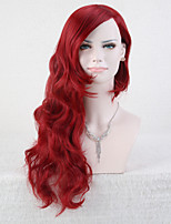 Capless Red Color High Quality Natural Curly Synthetic Wig